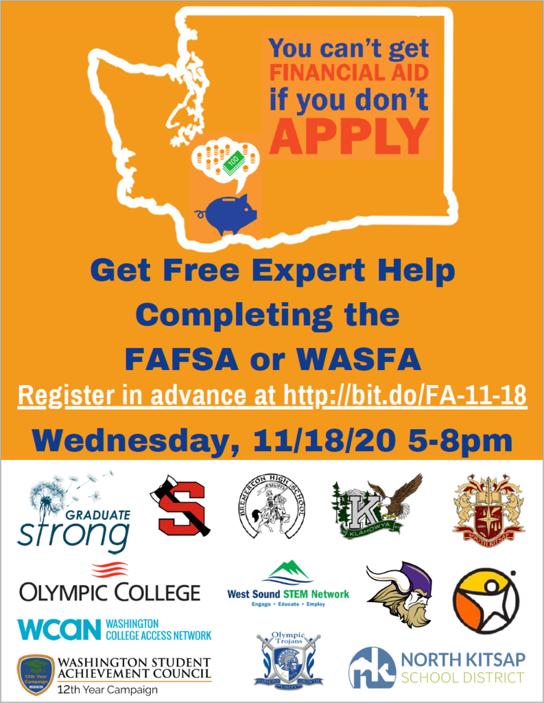 Get FREE help completing the FAFSA or WASFA