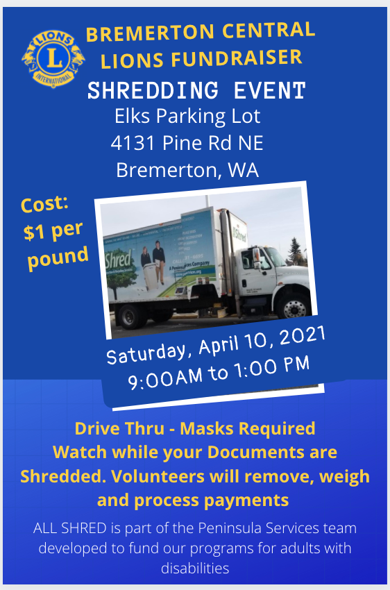Bremerton Central Lions Shred Event